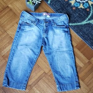 H&M distressed cropped jean
